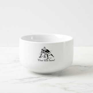Ice hockey soup mug