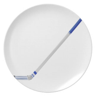 Ice hockey stick plate