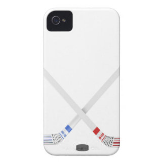 Ice hockey sticks and puck Case-Mate iPhone 4 case