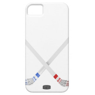 Ice hockey sticks and puck iPhone 5 cover