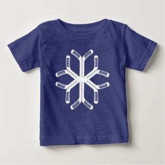 Ice Hockey Sticks Snowflake Tee Shirt