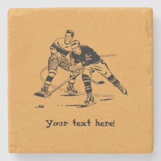 Ice hockey stone coaster