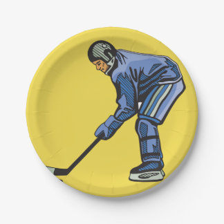 Ice Hockey Time Paper Plates