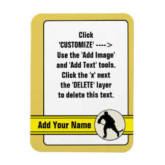 Ice Hockey Trading Card  Magnet Template