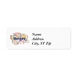 Ice Hockey Word Cloud Return Address Label
