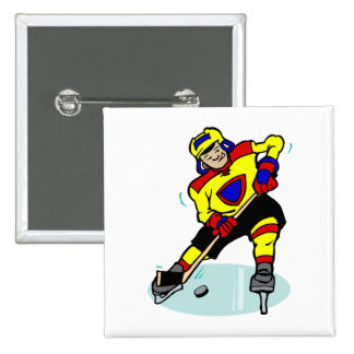 Ice Hockey Yellow Red Blue Pins