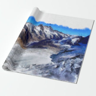 Ice in the towering Swiss Alps Wrapping Paper