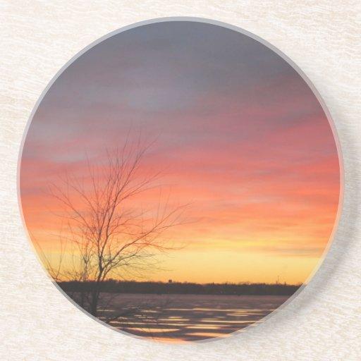 Ice Lake Sunset Coaster