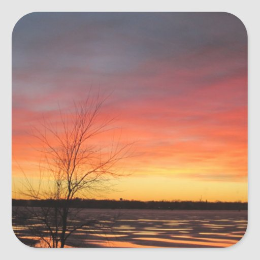 Ice Lake Sunset Stickers - Set of 20