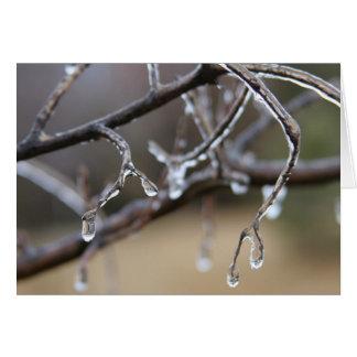 Ice melts, hearts warm card