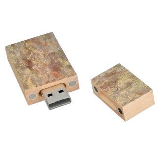 Ice on the ground wood USB 2.0 flash drive