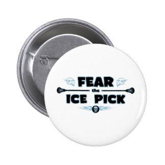 Ice Pick - blue 6 Cm Round Badge