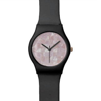 Ice Pink Rose Mother Of Pearl Natural White Dial Wrist Watches