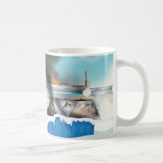 Ice Planet Sci-fi Battle! Mug