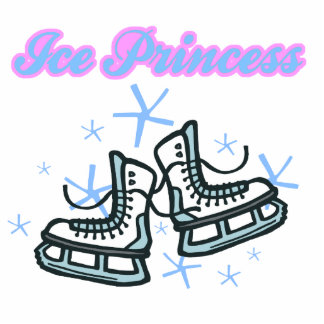 ice princes snowflakes and ice skates design cut out
