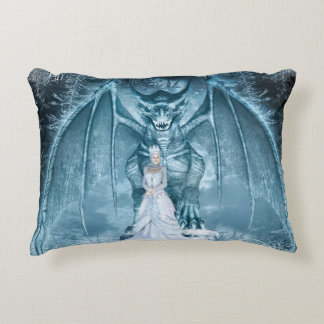 Ice Queen and Dragon Accent Pillow Accent Cushion