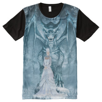 Ice Queen and Dragon All-Over Print T-Shirt