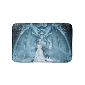 Ice Queen and Dragon Bath Mats