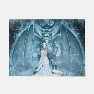 Ice Queen and Dragon Doormat
