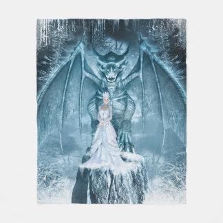 Ice Queen and Dragon Fleece Blanket