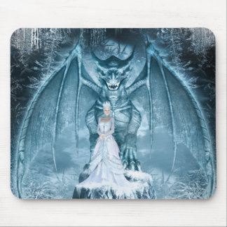 Ice Queen and Dragon Mouse Pad