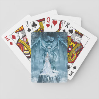 Ice Queen and Dragon Playing Cards