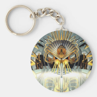 Ice Queen Basic Round Button Key Ring