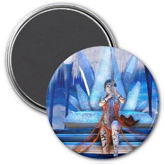 Ice Queen Fantasy Art 7.5 Cm Round Magnet