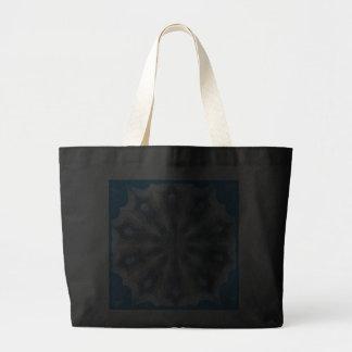 Ice Queen Kaleidoscope Black Tote Bag