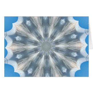 Ice Queen Kaleidoscope Greeting Card