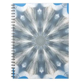 Ice Queen Kaleidoscope Spiral Notebook