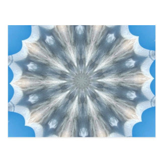 Ice Queen Kaleidoscope Postcard