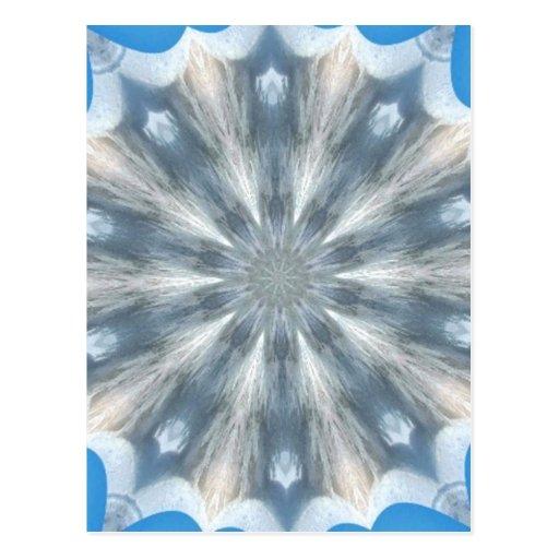 Ice Queen Kaleidoscope Post Card