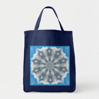 Ice Queen Kaleidoscope Reusable Navy Blue Tote Bag