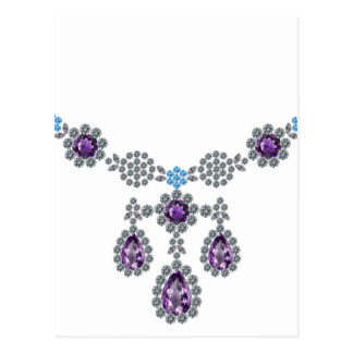 Ice Queen Necklace Postcard