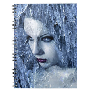 ice queen spiral note book