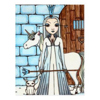 Ice Queen postcard by Maigan Lynn