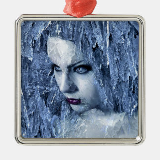 ice queen Silver-Colored square decoration