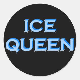 ICE QUEEN ROUND STICKER