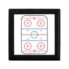 Ice Rink Diagram Hockey Game Decor Gift Box