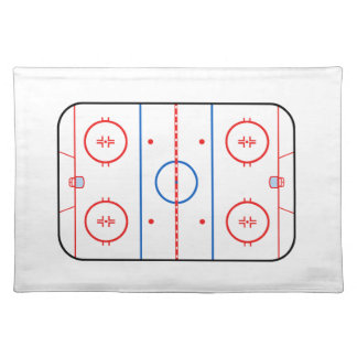 Ice Rink Diagram Hockey Game Decor Placemat