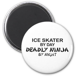 Ice Skater Deadly Ninja by Night Magnets