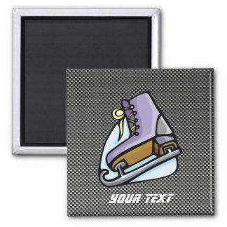 Ice Skater; Faux Carbon Fiber Fridge Magnet