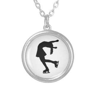 Ice Skater Silver Plated Necklace