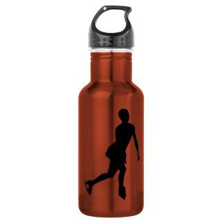 Ice Skater; yellow 532 Ml Water Bottle