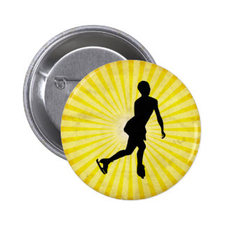 Ice Skater yellow Button
