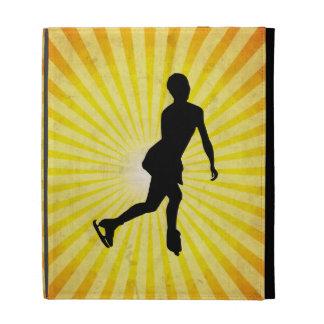 Ice Skater yellow iPad Folio Cover