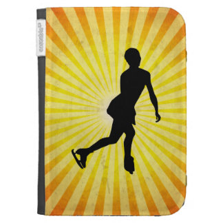Ice Skater; yellow Kindle Cover