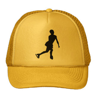 Ice Skater; yellow Mesh Hat