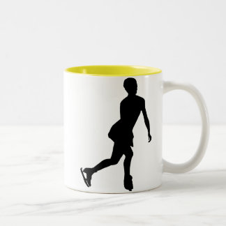 Ice Skater; yellow Two-Tone Mug
